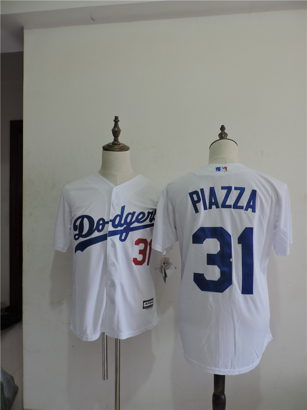 2016 MLB FLEXBASE Los Angeles Dodgers 31 Piazza White Throwback Jerseys