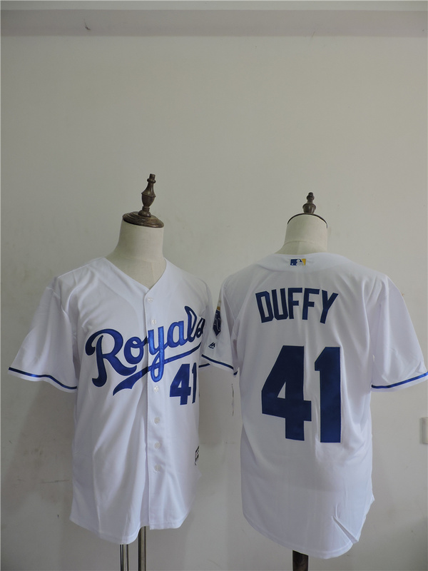 2016 MLB FLEXBASE Los Angeles Dodgers 41 Duffy White Jerseys