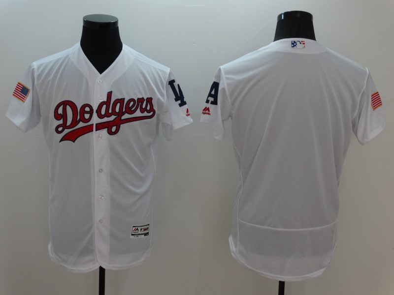2016 MLB FLEXBASE Los Angeles Dodgers Blank White Fashion Jerseys