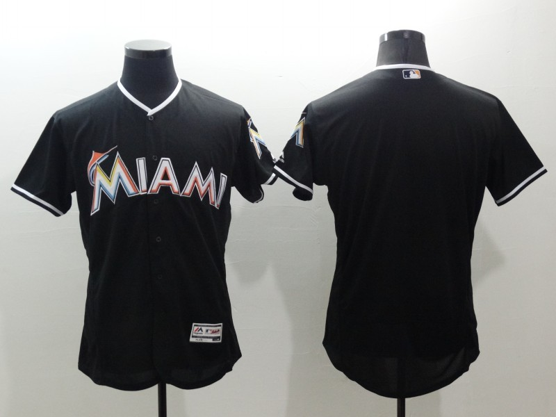 2016 MLB FLEXBASE Miami Marlins blank blue jerseys