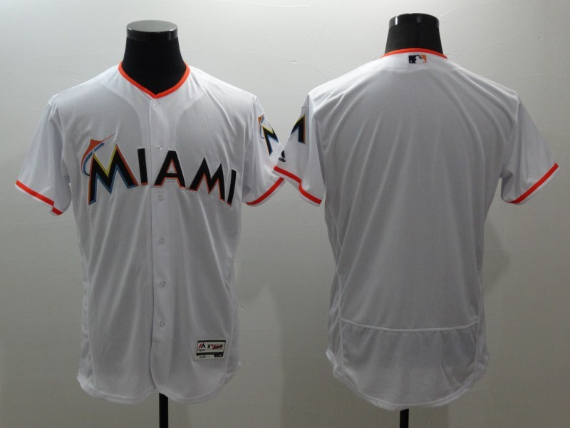 2016 MLB FLEXBASE Miami Marlins blank white jerseys