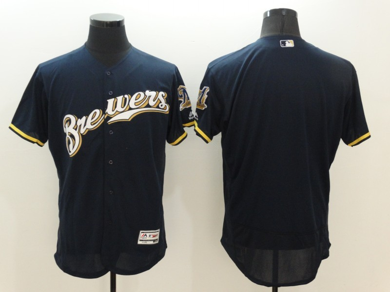 2016 MLB FLEXBASE Milwaukee Brewers Blank Blue Jersey