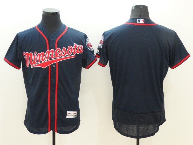 2016 MLB FLEXBASE Minnesota Twins Blank Blue Jerseys