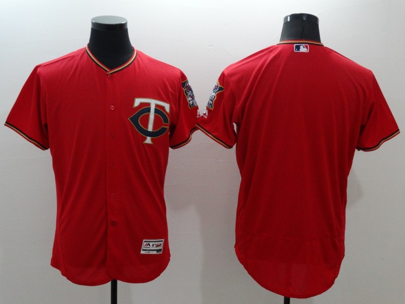 2016 MLB FLEXBASE Minnesota Twins blank red jerseys