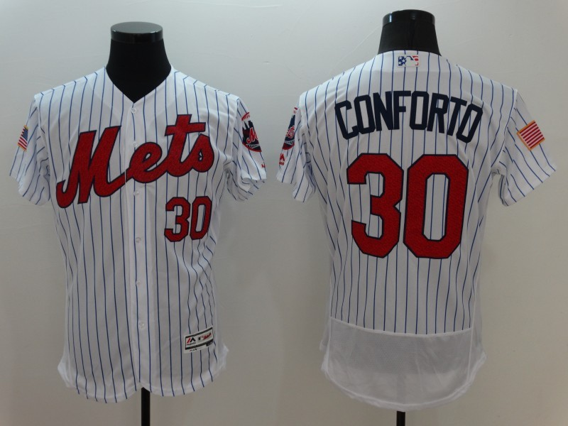 2016 MLB FLEXBASE New York Mets 30 Conforto White Fashion Jerseys