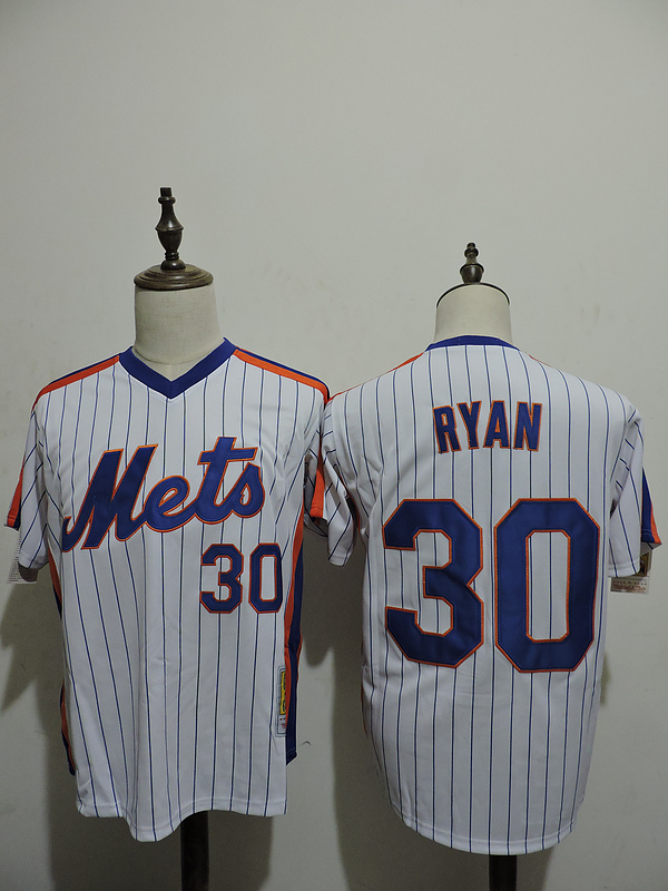 2016 MLB FLEXBASE New York Mets 30 Ryan stripe White Jerseys