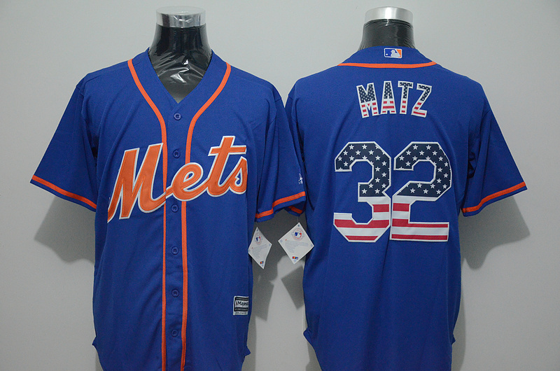 2016 MLB FLEXBASE New York Mets 32 Matz blue jersey