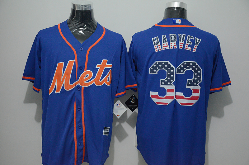 2016 MLB FLEXBASE New York Mets 33 Harvey blue jersey