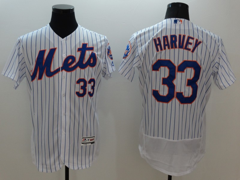 2016 MLB FLEXBASE New York Mets 33 Harvey white jerseys