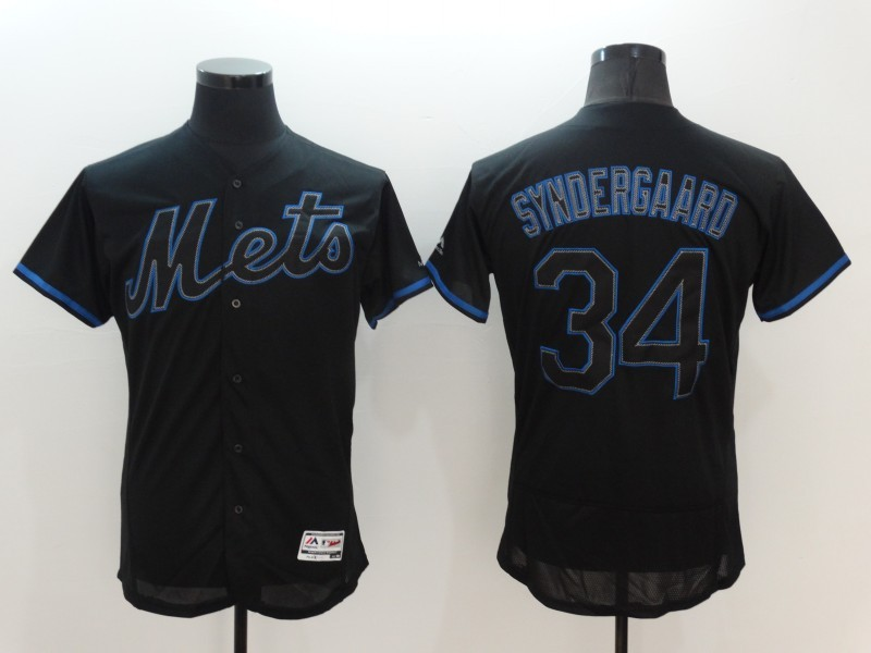 2016 MLB FLEXBASE New York Mets 34 Syndergaard black jerseys