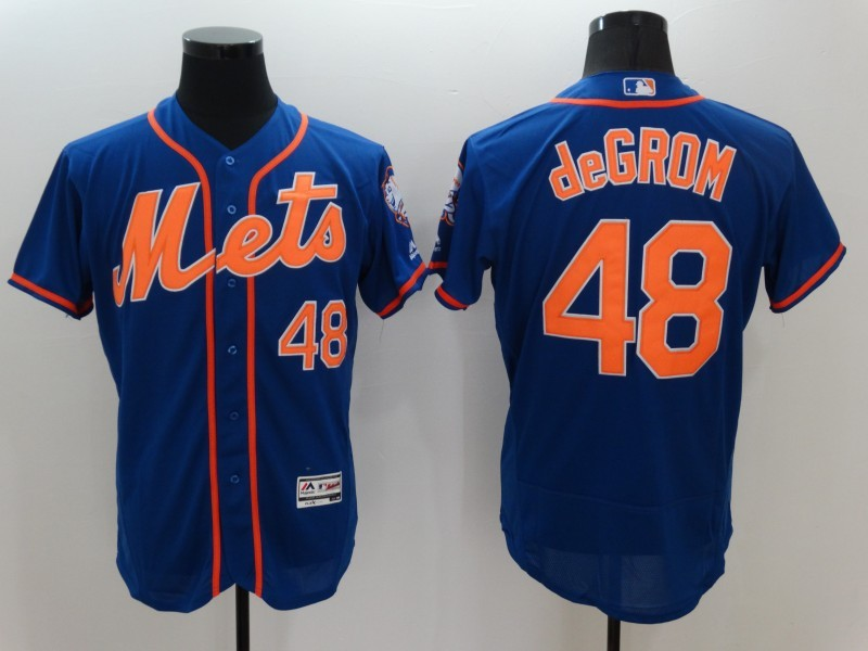 2016 MLB FLEXBASE New York Mets 48 Jacob deGrom Blue Jerseys