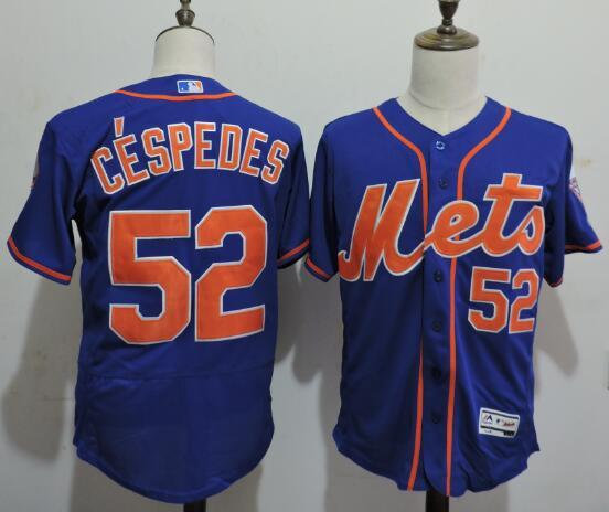 2016 MLB FLEXBASE New York Mets 52 Cespedes Blue Elite Jerseys