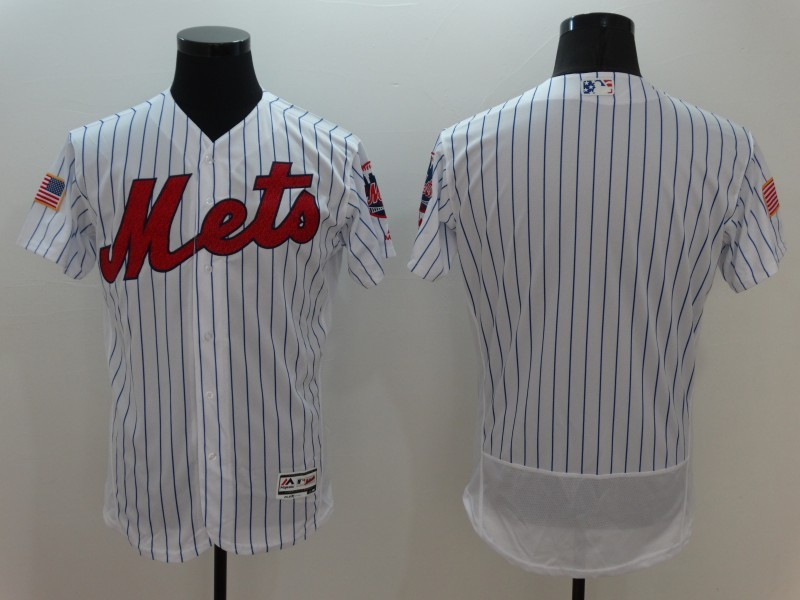 2016 MLB FLEXBASE New York Mets Blank White Fashion Jerseys