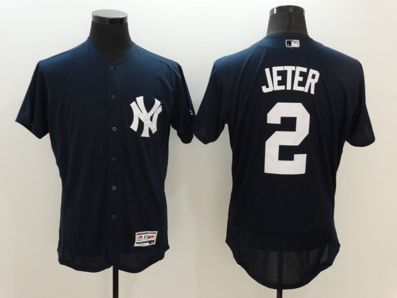 2016 MLB FLEXBASE New York Yankees 2 Derek Jeter Blue Jersey