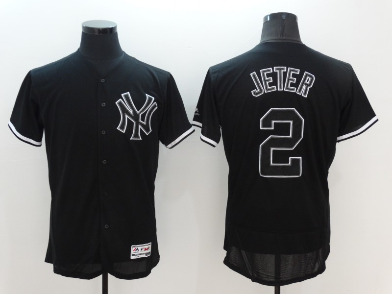 2016 MLB FLEXBASE New York Yankees 2 Derek Jeter black Jersey