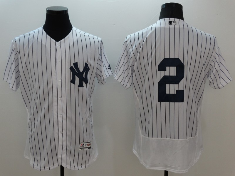 2016 MLB FLEXBASE New York Yankees 2 Derek Jeter white jerseys