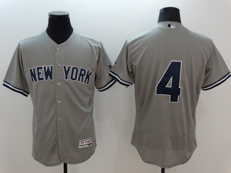 2016 MLB FLEXBASE New York Yankees 4 Lou Gehrig grey jerseys