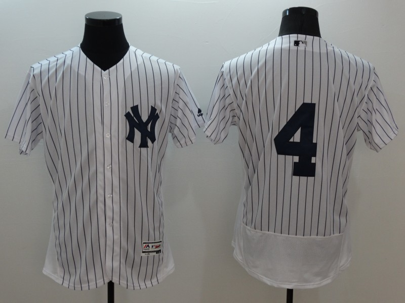2016 MLB FLEXBASE New York Yankees 4 Lou Gehrig white jerseys