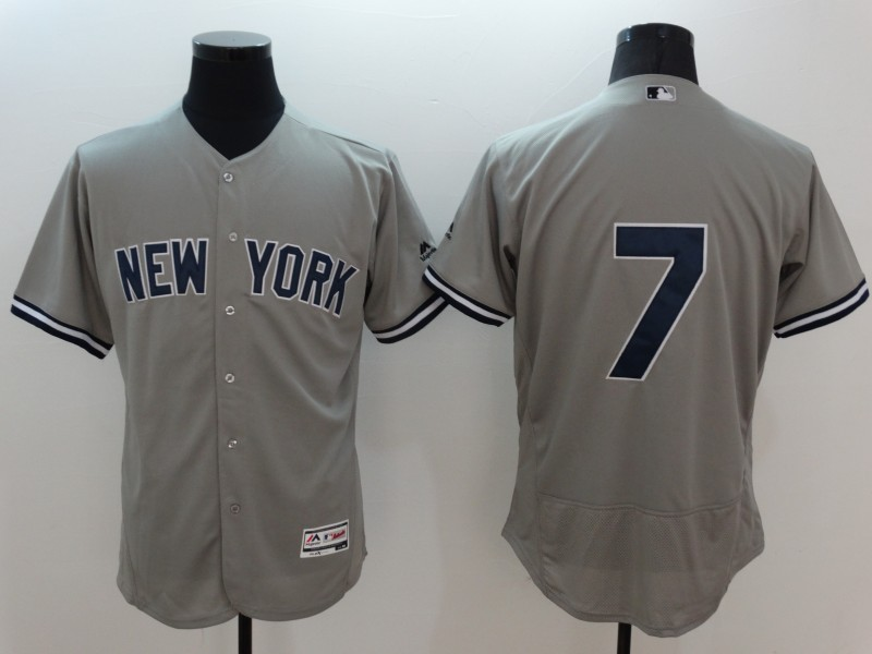 2016 MLB FLEXBASE New York Yankees 7 Mickey Mantle grey jerseys