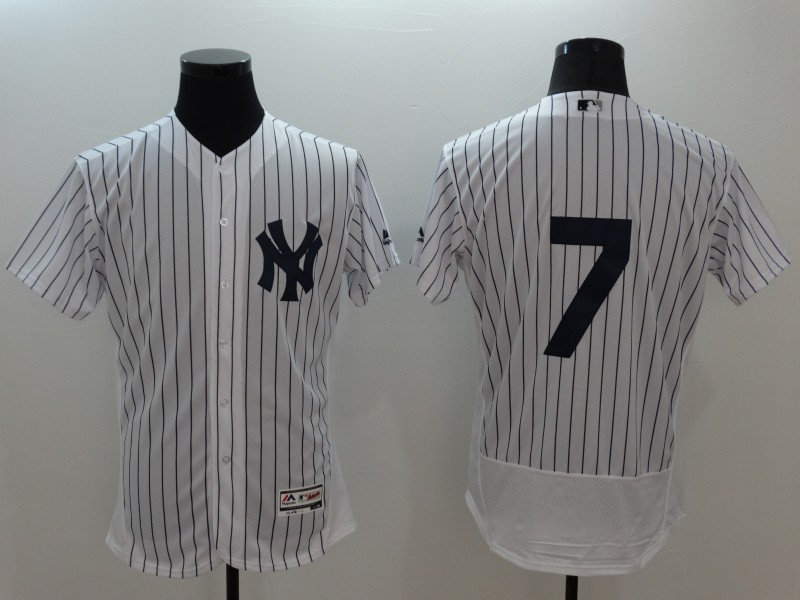 2016 MLB FLEXBASE New York Yankees 7 Mickey Mantle white jerseys
