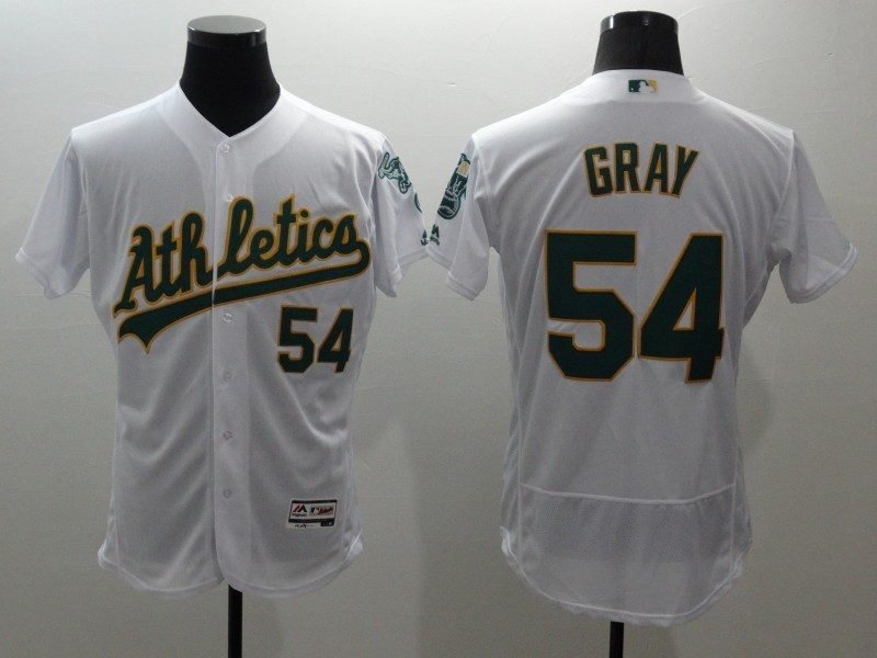 2016 MLB FLEXBASE Oakland Athletics 54 Gray white jerseys