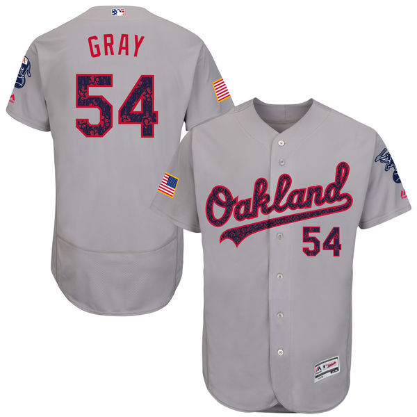 2016 MLB FLEXBASE Oakland Athletics 54 Sonny Gray Grey Fashion Jerseys