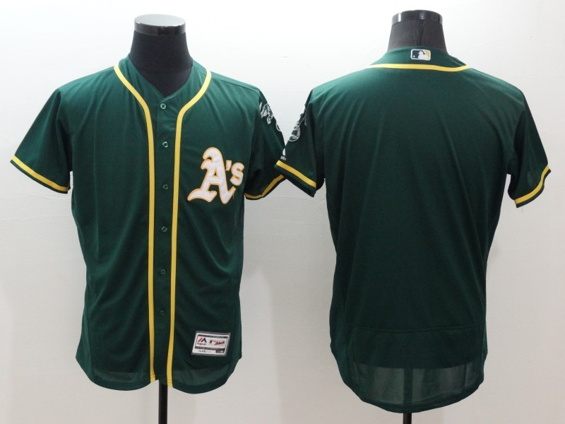 2016 MLB FLEXBASE Oakland Athletics Blank Green Jersey