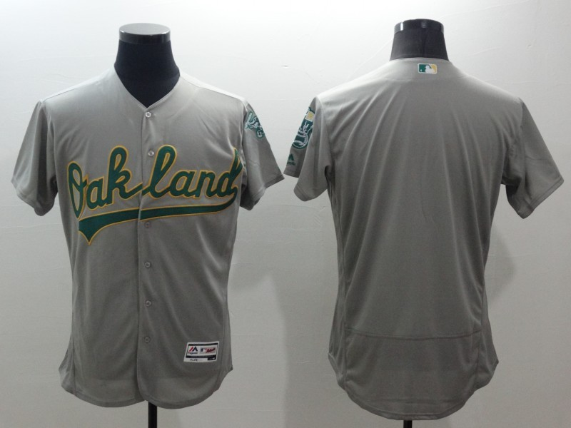 2016 MLB FLEXBASE Oakland Athletics blank grey jerseys