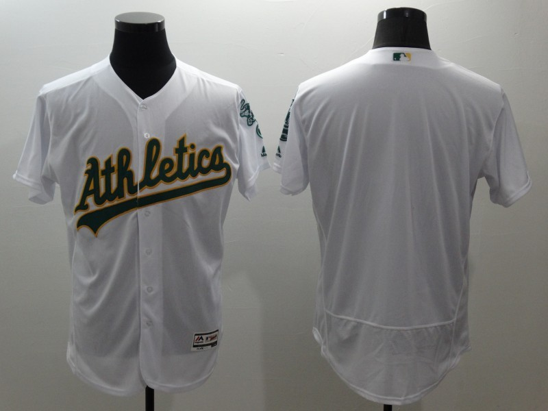 2016 MLB FLEXBASE Oakland Athletics blank white jerseys