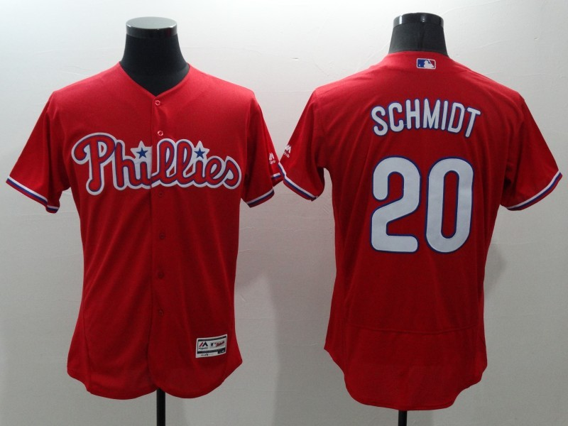 2016 MLB FLEXBASE Philadelphia Phillies 20 Schmidt red jerseys