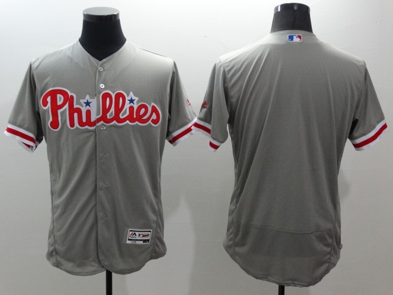 2016 MLB FLEXBASE Philadelphia Phillies blank grey jerseys