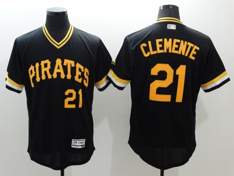 2016 MLB FLEXBASE Pittsburgh Pirates 21 Cleente black jerseys