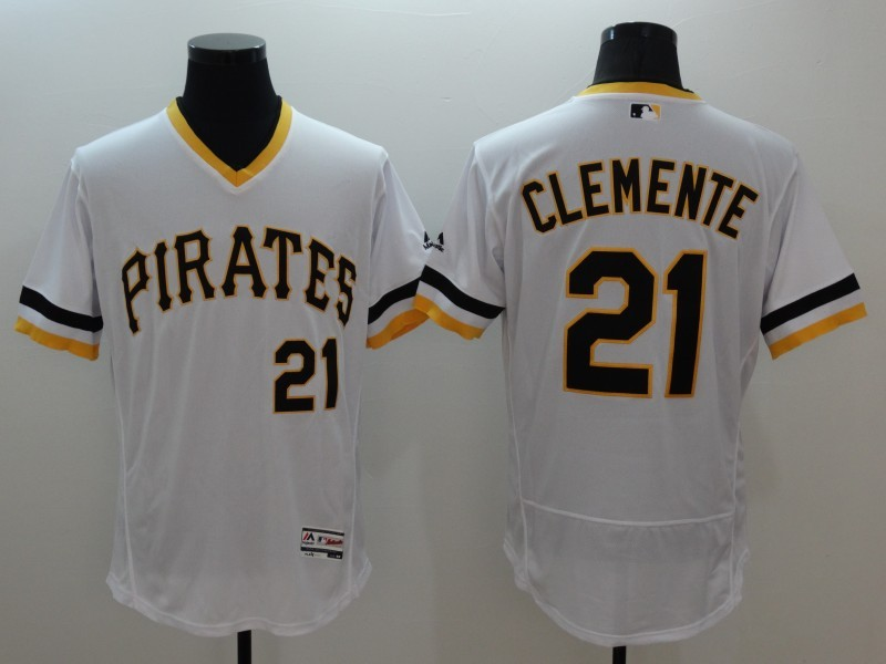 2016 MLB FLEXBASE Pittsburgh Pirates 21 Clemente white jerseys