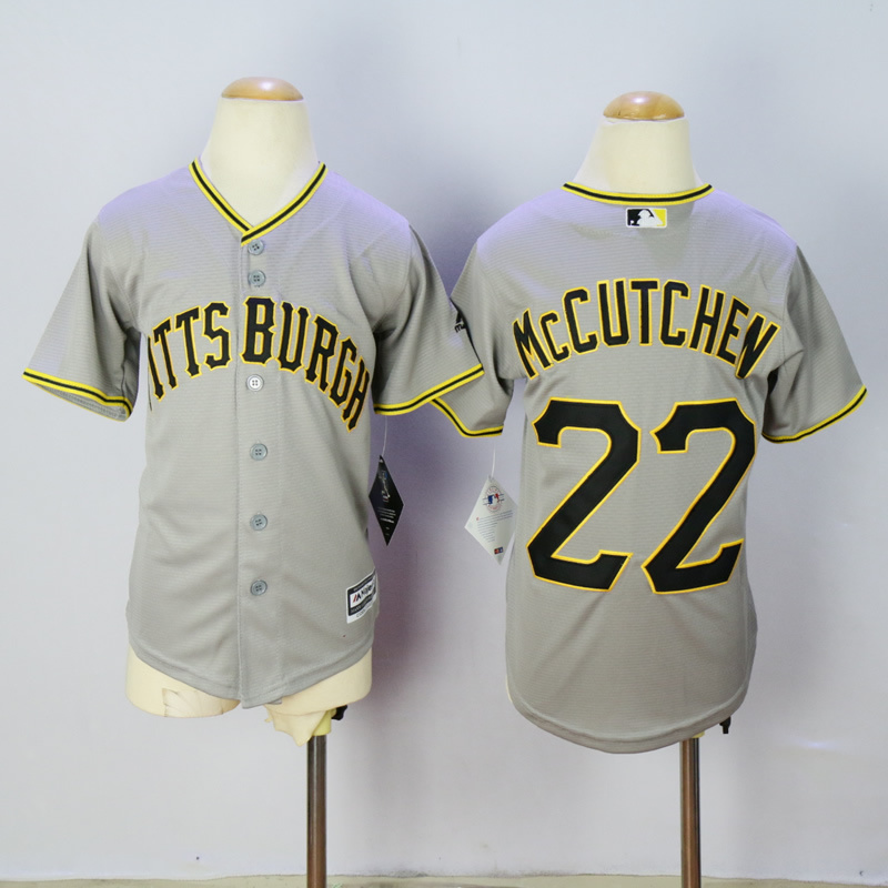 2016 MLB FLEXBASE Pittsburgh Pirates 22 McCutchen grey Kids jersey
