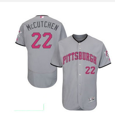 2016 MLB FLEXBASE Pittsburgh Pirates 22 McCutchen grey mother's day jerseys