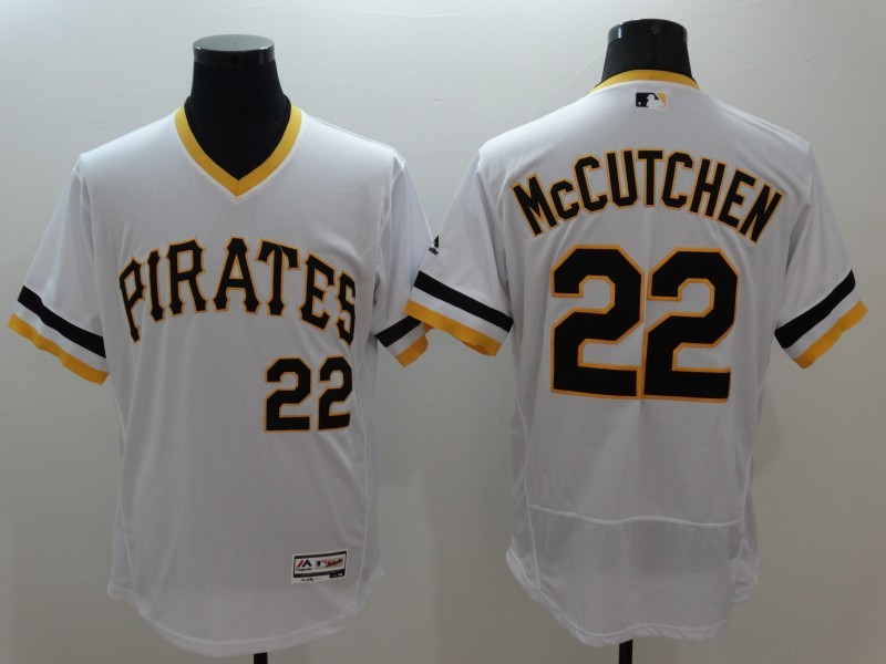 2016 MLB FLEXBASE Pittsburgh Pirates 22 McCutchen white jerseys