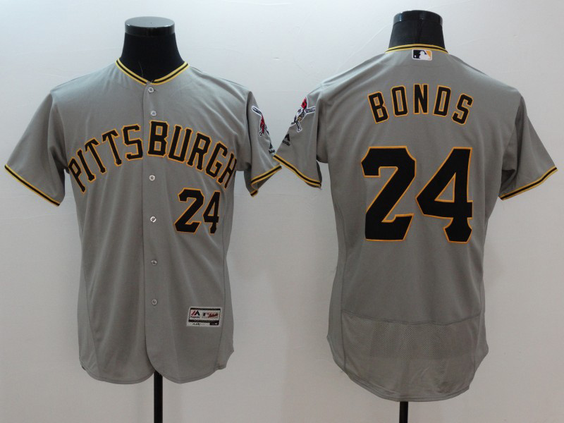 2016 MLB FLEXBASE Pittsburgh Pirates 24 Bonds grey jerseys