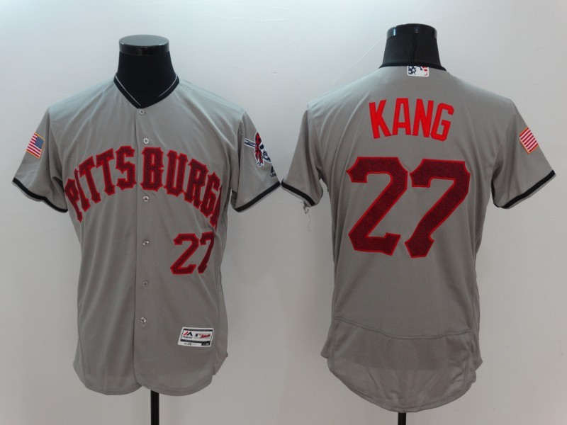 2016 MLB FLEXBASE Pittsburgh Pirates 27 Kang Grey Fashion Jerseys