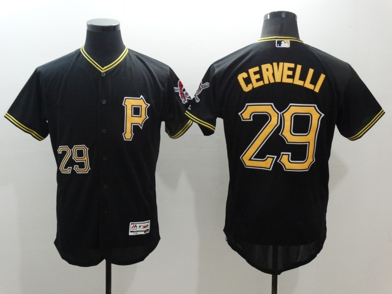 2016 MLB FLEXBASE Pittsburgh Pirates 29 Cervelli Black Jersey