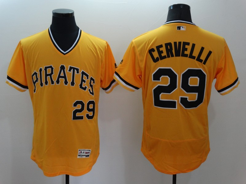 2016 MLB FLEXBASE Pittsburgh Pirates 29 Cervelli Orange Jersey