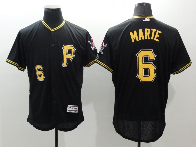 2016 MLB FLEXBASE Pittsburgh Pirates 6 Marte black jerseys