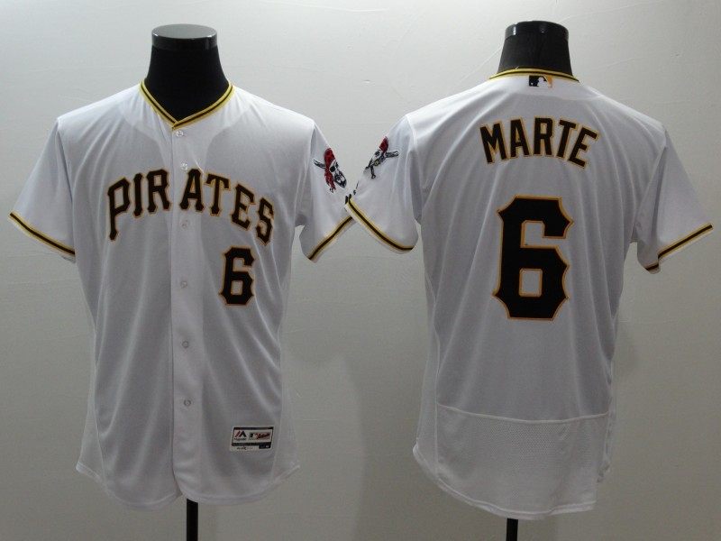 2016 MLB FLEXBASE Pittsburgh Pirates 6 Marte white jerseys
