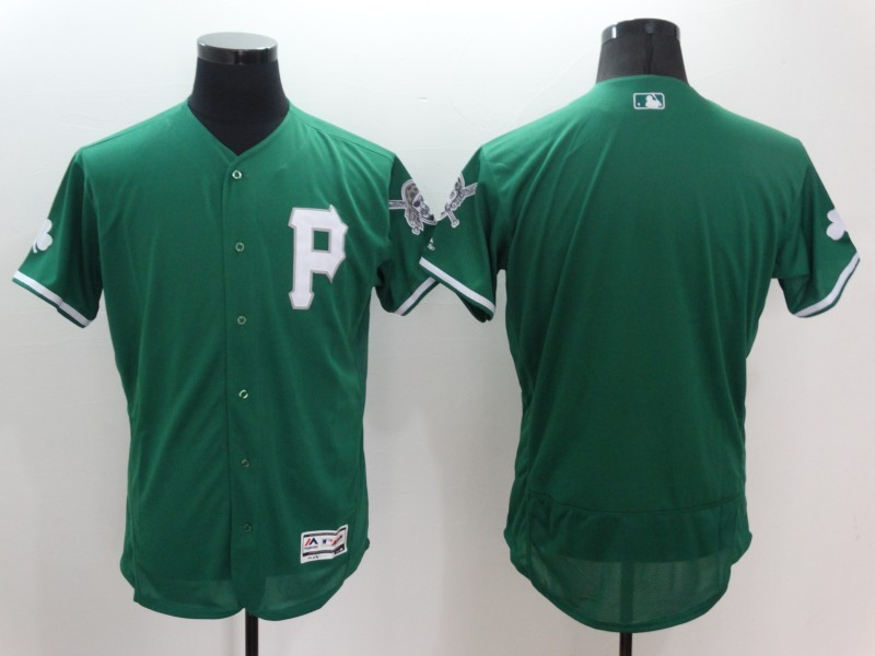 2016 MLB FLEXBASE Pittsburgh Pirates Blank Green Jerseys
