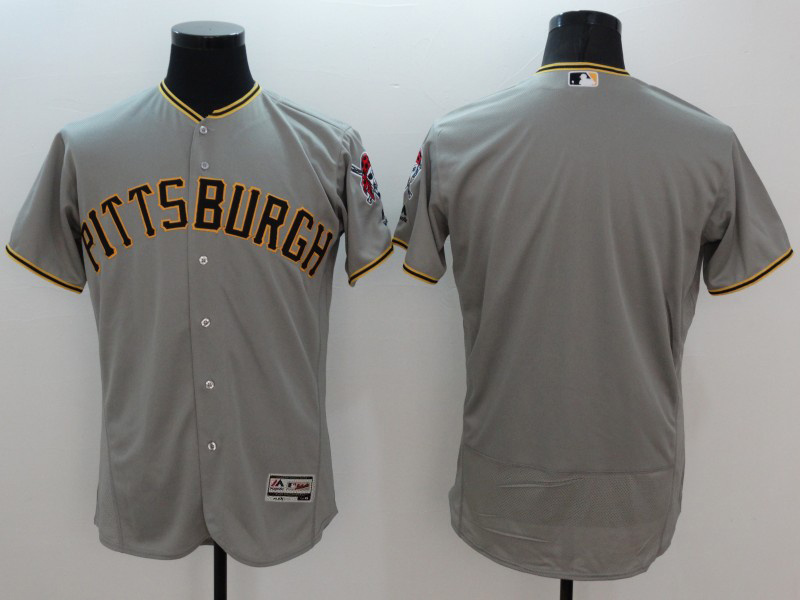 2016 MLB FLEXBASE Pittsburgh Pirates blank grey jerseys