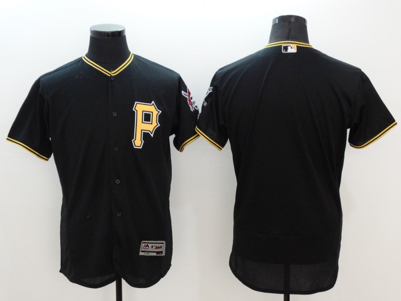 2016 MLB FLEXBASE Pittsburgh Pirates blank black jerseys
