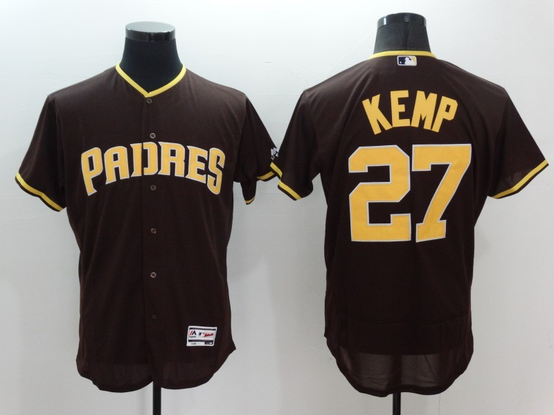 2016 MLB FLEXBASE San Diego Padres 27 matt kemp brown Jerseys