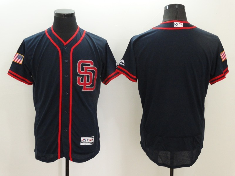 2016 MLB FLEXBASE San Diego Padres Blank Black Fashion Jerseys