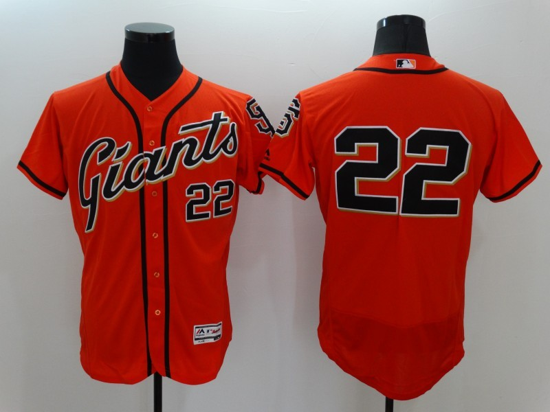 2016 MLB FLEXBASE San Francisco Giants 22 Will Clark Orange Jerseys