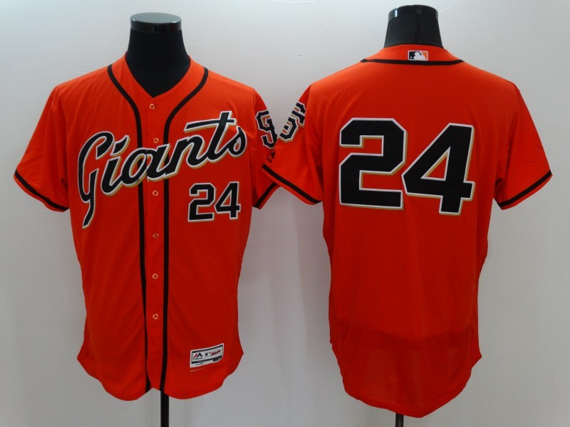 2016 MLB FLEXBASE San Francisco Giants 24 Willie Mays Orange Jerseys