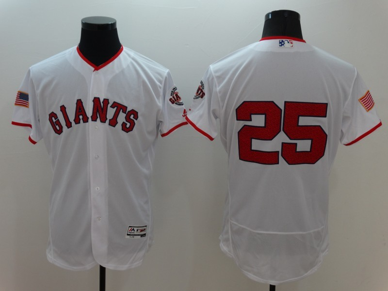 2016 MLB FLEXBASE San Francisco Giants 25 Barry Bonds White Fashion Jerseys